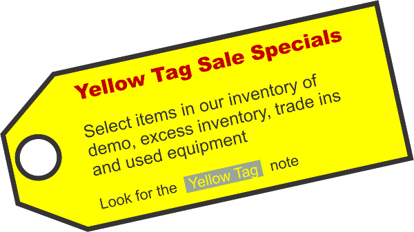 Yellow Tag Specials
